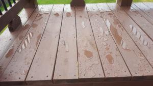 Waterproof deck stain