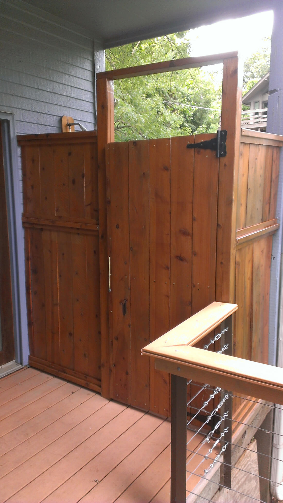 Outdoor Shower Stain - Staining Kansas City