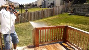 Spraying Deck North Kansas City - Deck Staining