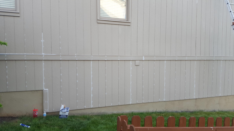 exterior siding caulked